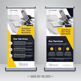 Corporate rollup lub x banner design template