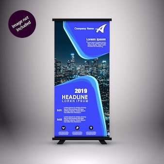 Corporate standee template