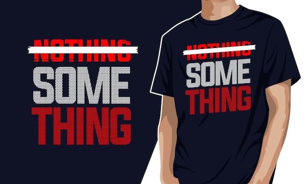 Coś - koszulka z grafiką typograficzną