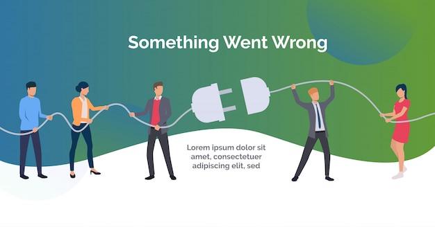 Coś poszło nie tak, zielona prezentacja szablonu slajdów