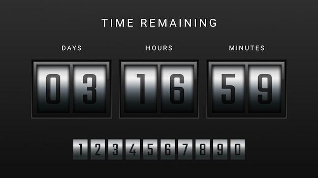 Countdown clock counter timer