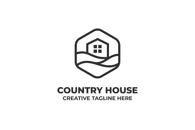 Country house village minimalistyczne logo