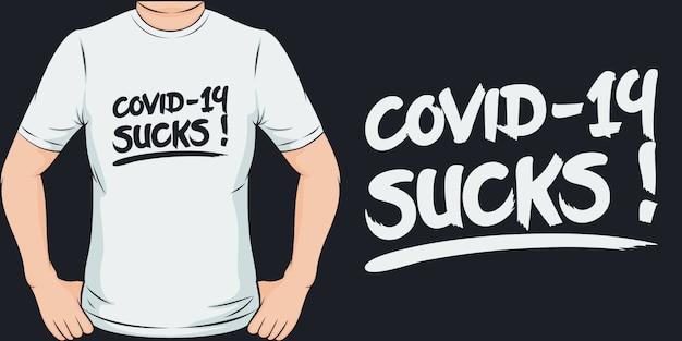 Covid-19 do bani. unikalny i modny design koszulki covid-19.