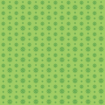 Covid 19 koronawirusowy wzór zielony