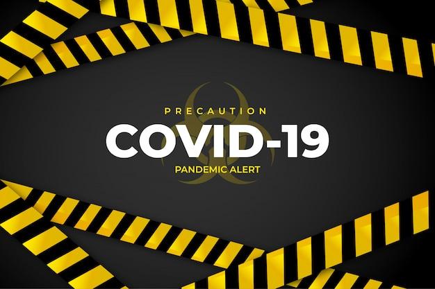Covid-19 tło ostrożności