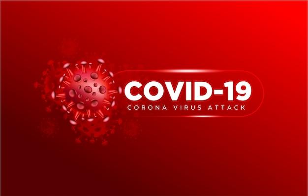 Covid coronavirus w prawdziwym tle ilustracji 3d