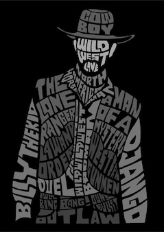 Cowboy calligram