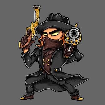 Cowboy vampire hunter gun