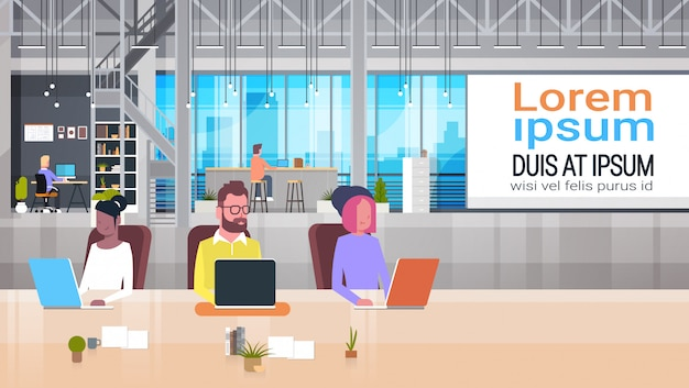 Coworking biznesowego miejsca ilustracja
