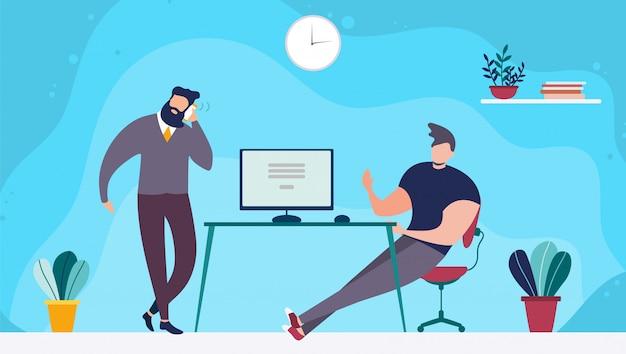 Coworking office space i ludzie pracujący razem