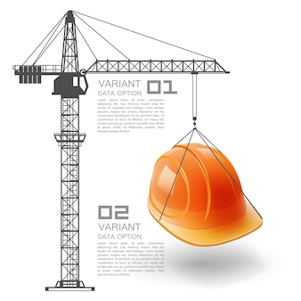 Crane podnosi kask art. ilustracja wektorowa