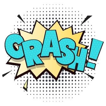 Crash komiks dymek w stylu pop-art