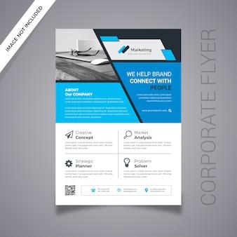 Creative business flyer na szarym tle