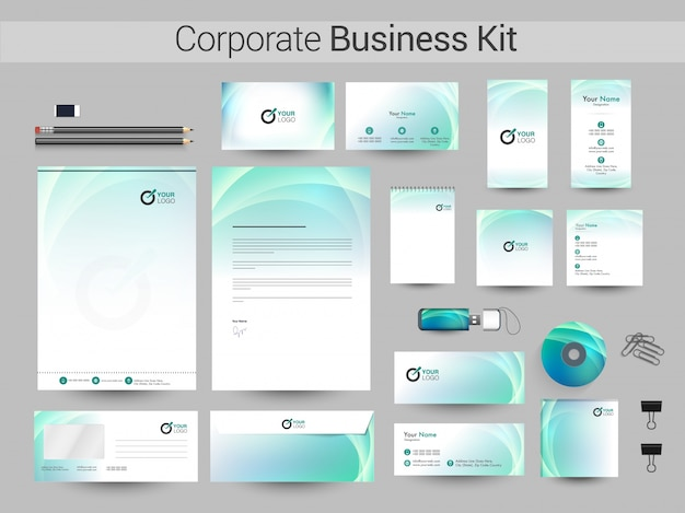 Creative corporate identity lub business kit.