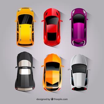 Creative płaska kolekcja samochodów