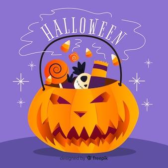 Creepy halloween dynia