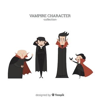 Creepy halloween vampire character collection