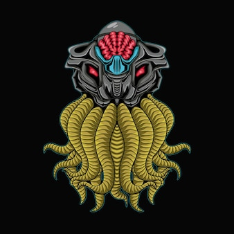 Creepy octopus mecha