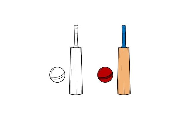 Cricket ręcznie rysowane ilustracja szkic i kolor