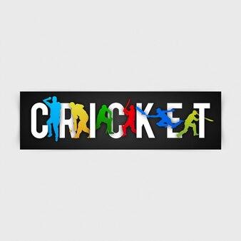 Cricket tło z kolorowymi sylwetkami