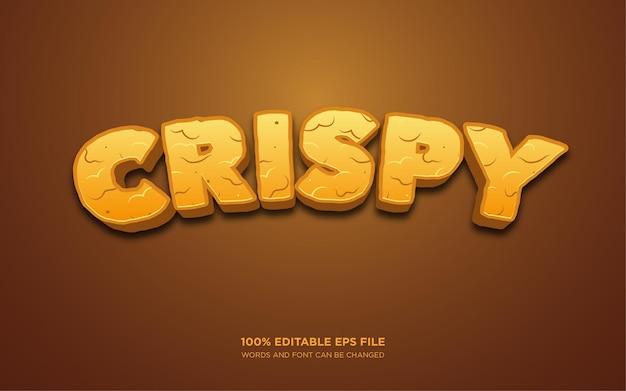 Crispy 3d edytowalny efekt stylu tekstu