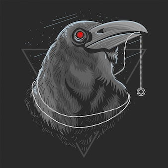 Crow bird raven artwork vector