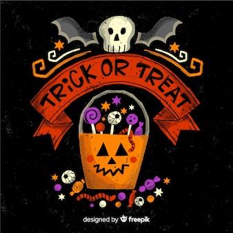 Cukierek albo psikus napis na halloween