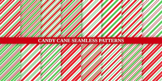 Cukierkowa laska, zestaw świąteczny wzór