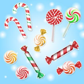 Cukierkowe lizaki z posypką. cukierki i cukierki karmelowe