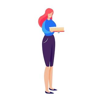 Cukiernik trzyma ciasto