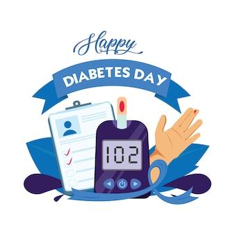 Cukrzyca światowy dzień płaskie ikona