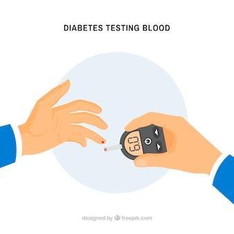 Cukrzyca testuje tło krwi