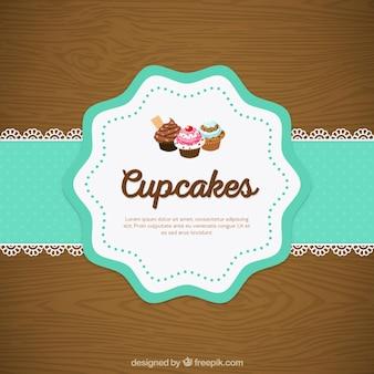 Cupcake serwetka koronki