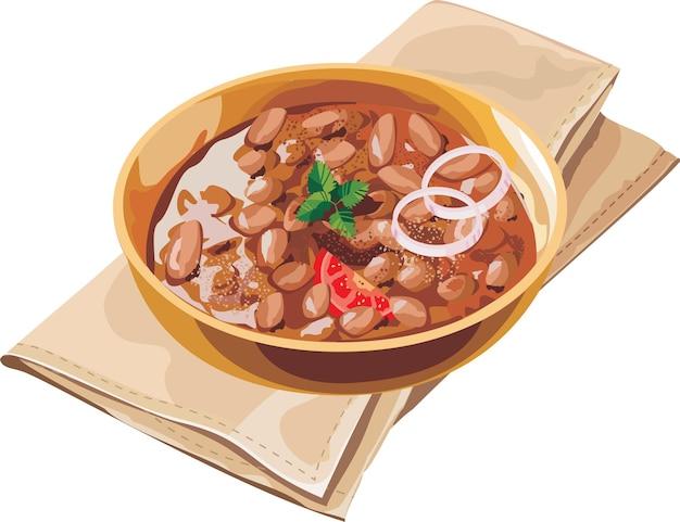 Curry rajma znane również jako razma lub lal lobia z indii