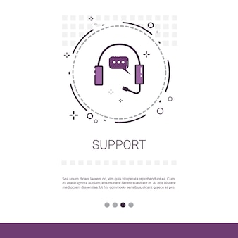 Customer consulting support service banner