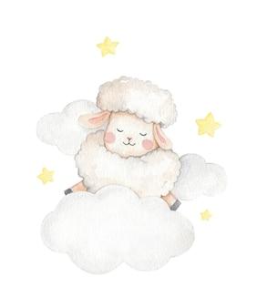 Cute animal akwarela ilustracja