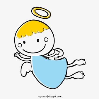 Cute anioł cartoon wektor