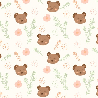 Cute baby bear edytowalny wzór