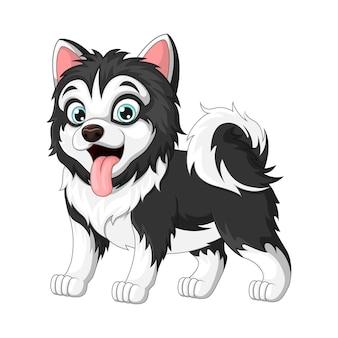Cute baby cartoon dog