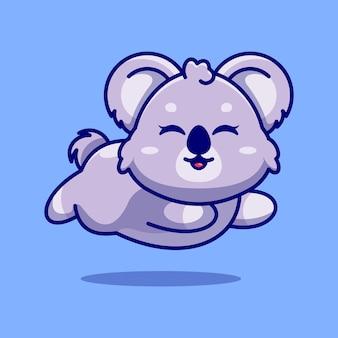Cute baby koala działa kreskówka