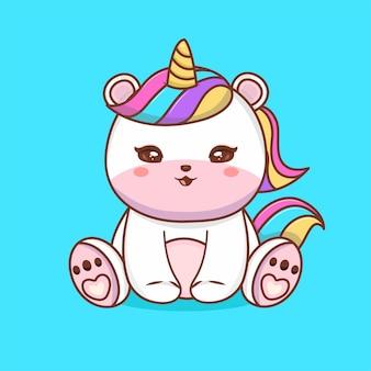 Cute baby lion siedzący kreskówka wektor ikona ilustracja. zwierzęca natura ikona koncepcja białym tle premium wektor. płaski styl kreskówki