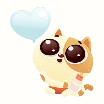 Cute baby shower cat