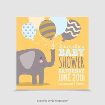 Cute baby shower karty