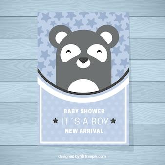 Cute baby shower zaproszenia szablon