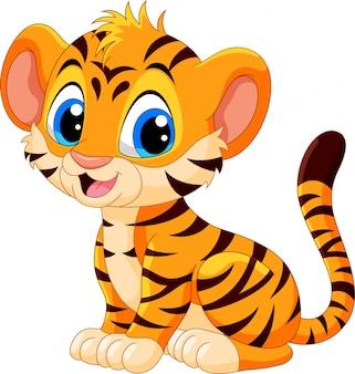 Cute baby tygrys kreskówka