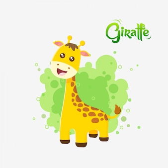 Cute baby żyrafa