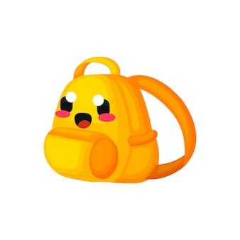 Cute bag kawaii charakter ilustracji