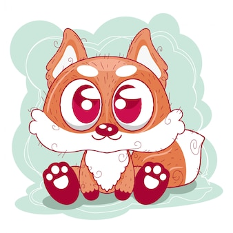 Cute cartoon lis