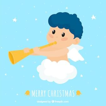 Cute christmas angel odtwarzanie muzyki