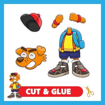 Cute dog back to school cut and glue